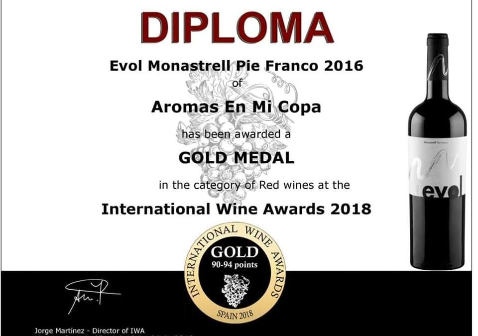 Oro para Evol 2016 / International Wine Awards 2018 – 9ª edición