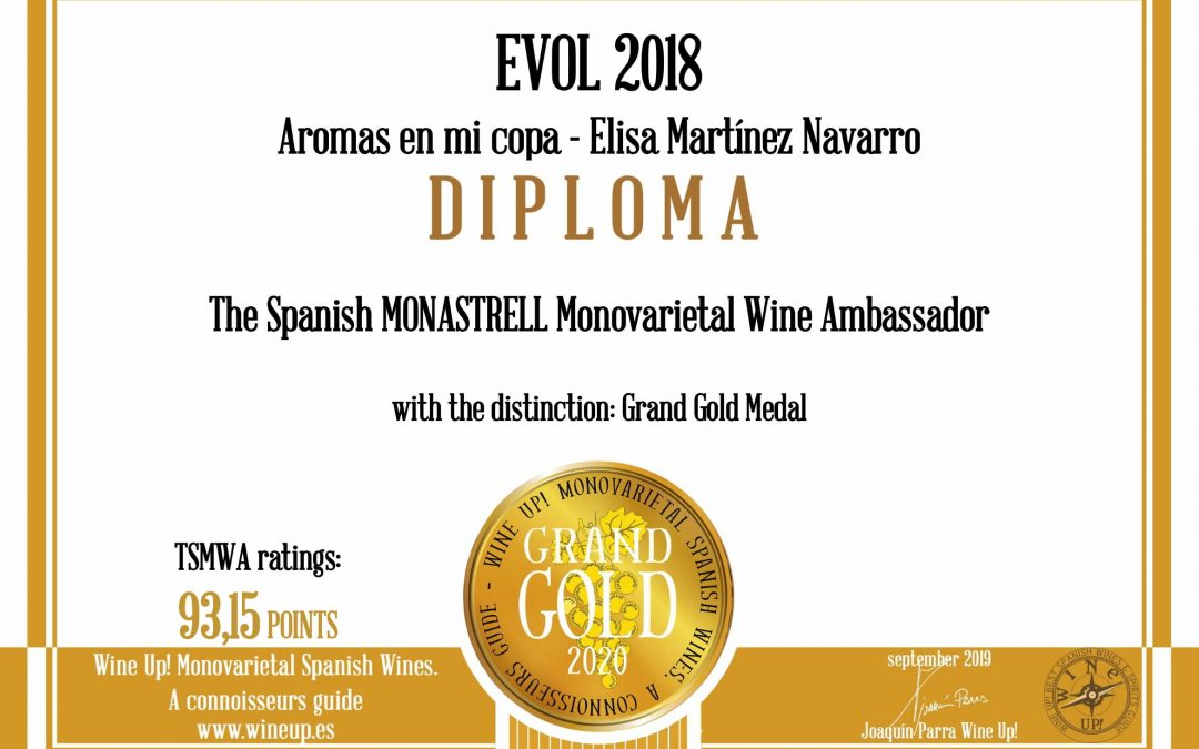 Evol 2018 | Gran Oro Guia Wine´Up 2019-2020