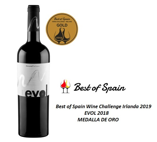MEDALLA DE ORO  » BEST OF SPAIN WINE CHALLENGE IRLANDA 2019 «